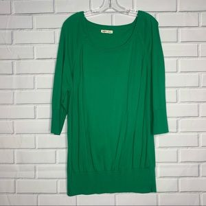 Old Navy Sweaters - Old Navy tunic sweater green 3/4 sleeves XXL